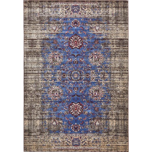 Florence Blue/Ivory Area Rug by Unique Loom