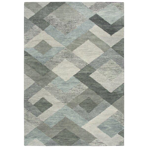 Prochaska Hand-Tufted Wool Gray Area Rug by Latitude Run