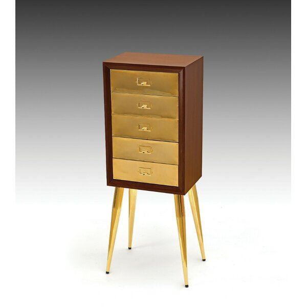 Mohamed Metal and Wood Free Standing Jewelry Armoire by George Oliver