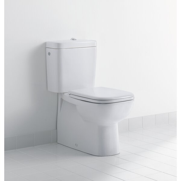 D-Code Dual-Flush Elongated Toilet Bowl (Seat Not Included) by Duravit