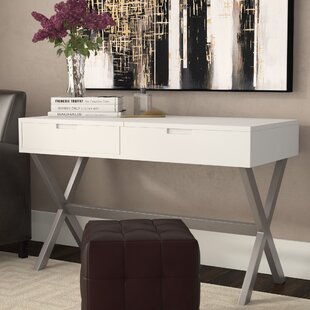 Bargain Clancy Desk Vanity Set with Mirror By Wade Logan