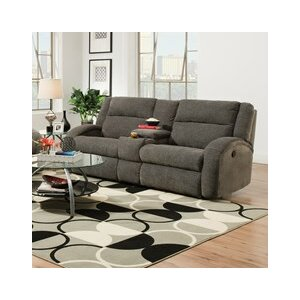 Maverick Double Console and Reclining Sofa by Southern Motion