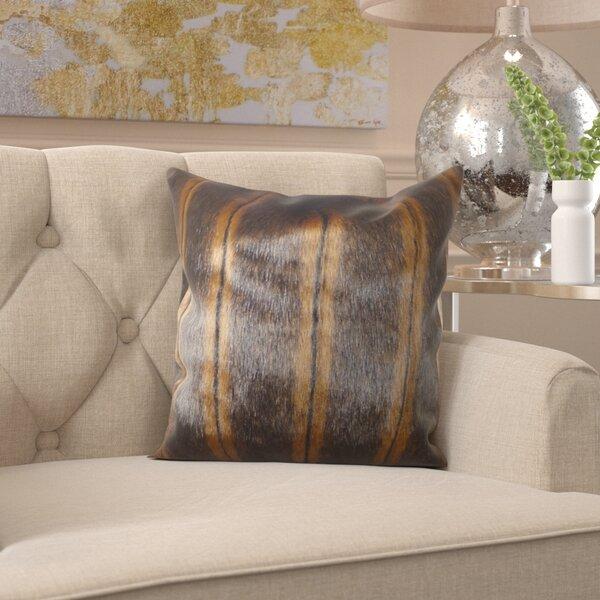 Fossen Mink Handmade Throw Pillow by Everly Quinn