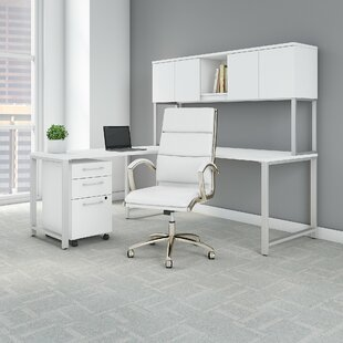 400 Series Desk with Hutch 4 Piece Set