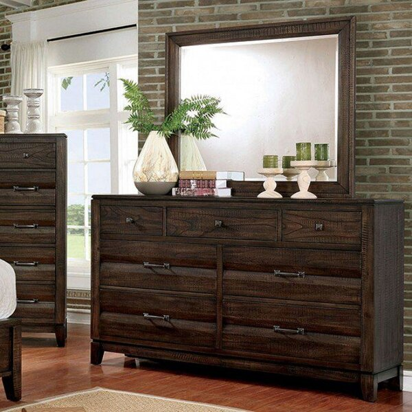 Roberts 7 Drawer Double Dresser with Mirror by Alcott Hill