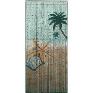 Star Fish Beach Bamboo Beaded Single Curtain Panel  sc 1 st  Wayfair & Door Bead Curtains | Wayfair