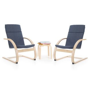 Affordable Kiddie Rocker 3 Piece Table and Chairs Set ByGuidecraft