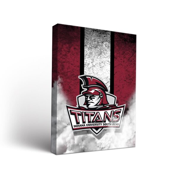 NCAA Indiana South Bend Titans Banner Vintage Design Framed Graphic Art on Wrapped Canvas by Victory Tailgate