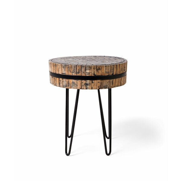 Peasely End Table by Union Rustic