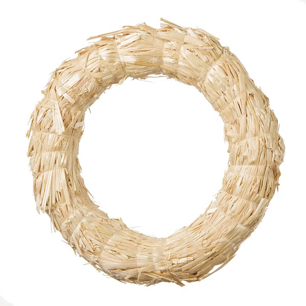 Round Straw Wreath by August Grove