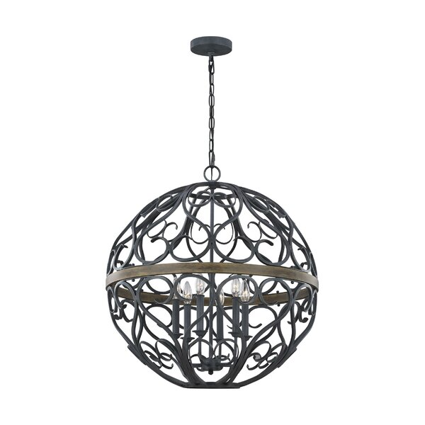 Gregorio 6 - Light Candle Style Globe Chandelier By Fleur De Lis Living