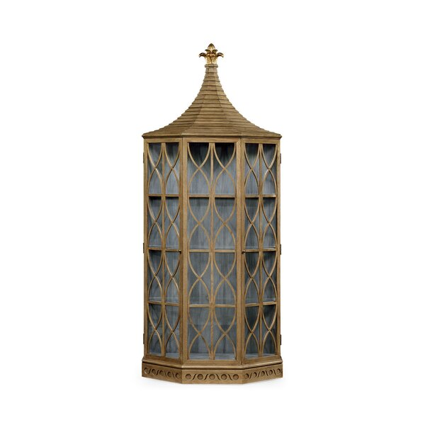 DaphneÂ's Lighted Corner Curio Cabinet by Jonathan Charles Fine Furniture
