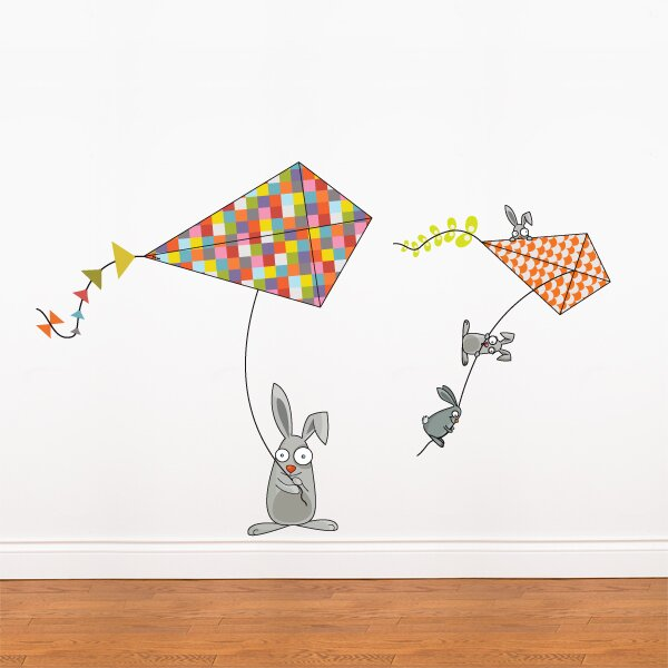 Bunnies and Kites Wall Decal by Harriet Bee