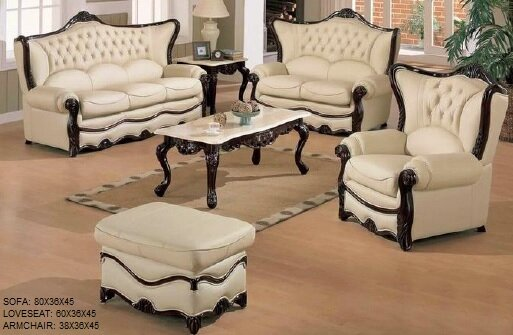 Elegant 3 Piece Leather Living Room Set by Joseph Louis Home Furnishings