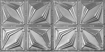 Art Deco 2 ft. x 4 ft. Tin-plated Steel Tile by Ch