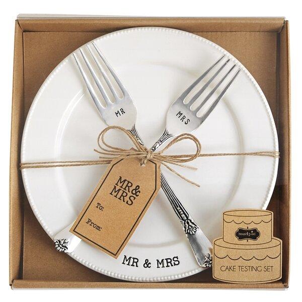 Circa 3 Piece Mr. & Mrs. Platter Set by Mud Pie™