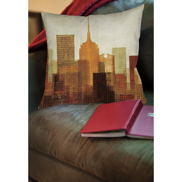 Summer in the City II Printed Throw Pillow by Manual Woodworkers & Weavers