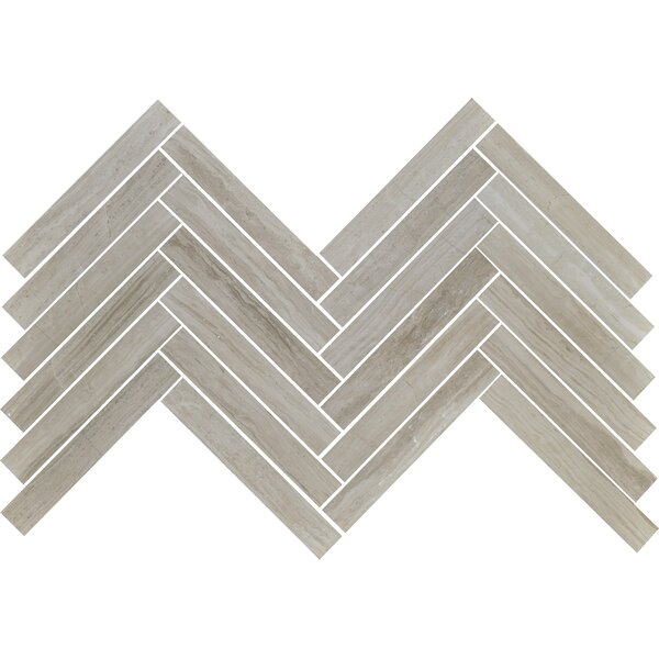 Cerro Hudson 0.88 x 2.88 Marble Mosaic Tile in Gray by The Bella Collection