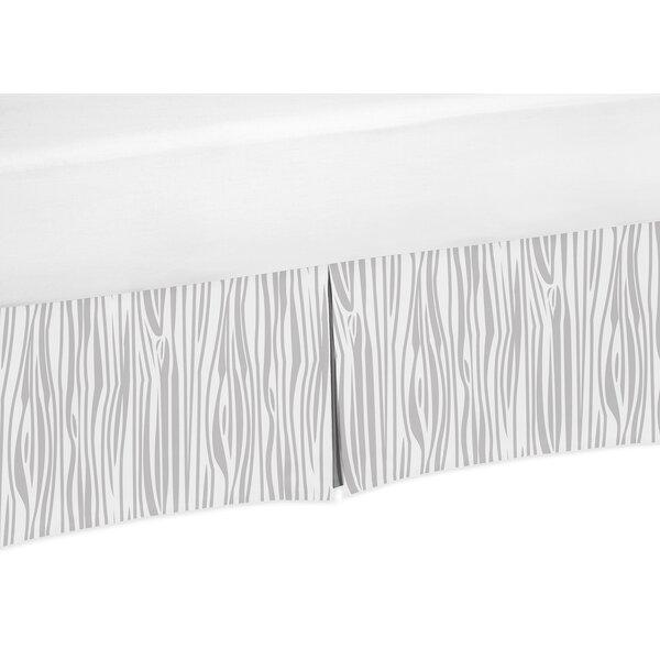 Wood Grain Print Crib Skirt by Sweet Jojo Designs