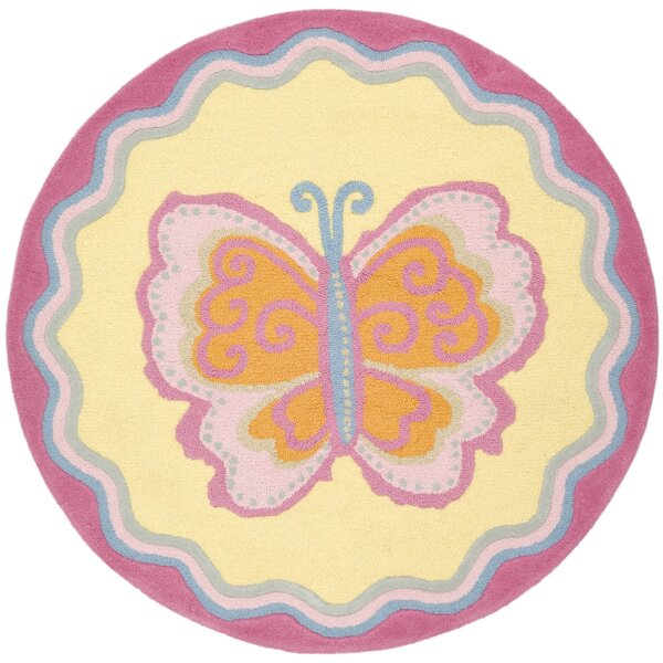 Claro Butterfly Center Area Rug by Harriet Bee