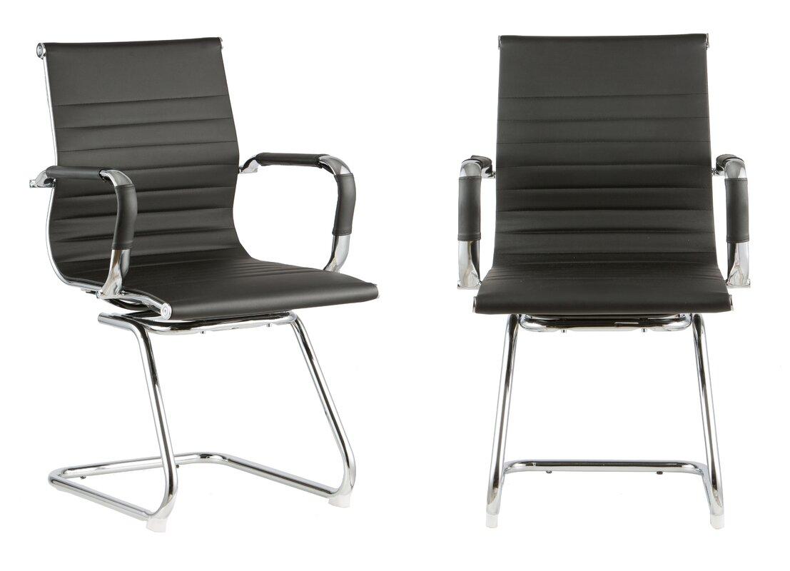 Modern Design Mid Back 12 5 Mesh Desk Chair Set Of 2 By