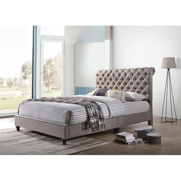 Kizzie Upholstered Sleigh Bed by Three Posts