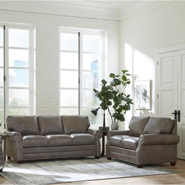 Pedigo 2 Piece Leather Sleeper Living Room Set by Canora Grey
