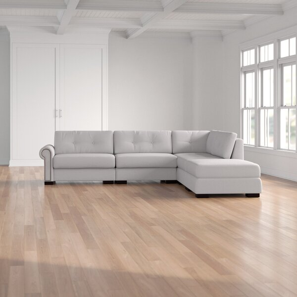 Review Willia Buttoned 121'' Modular Sectional