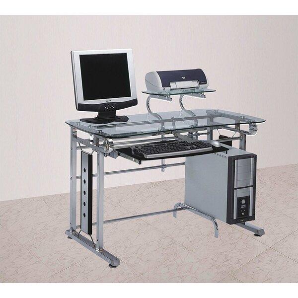 Wilmette Home Office Glass Computer Desk