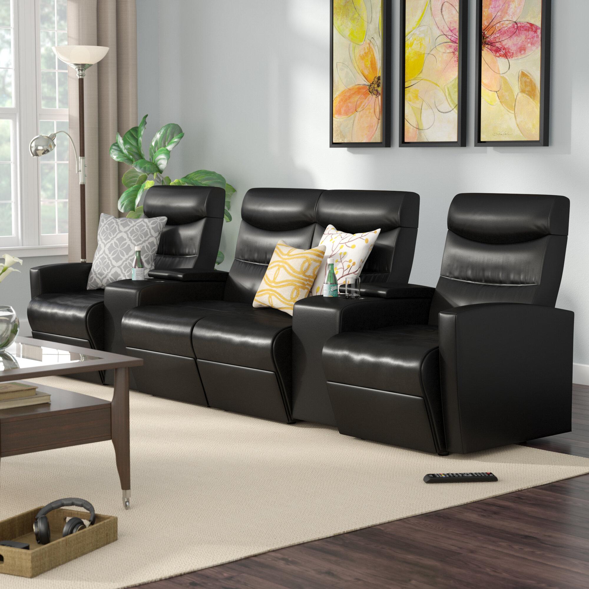 Red Barrel Studio Skiba 4 Seat Home Theater Recliner U0026 Reviews | Wayfair
