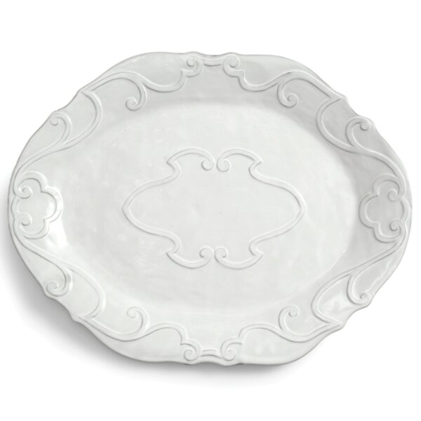 Bella Bianca Ribbon Oval Platter by Arte Italica