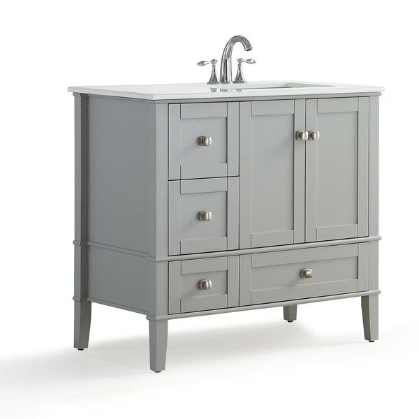 Chelsea Right Offset 37 Single Bathroom Vanity wit