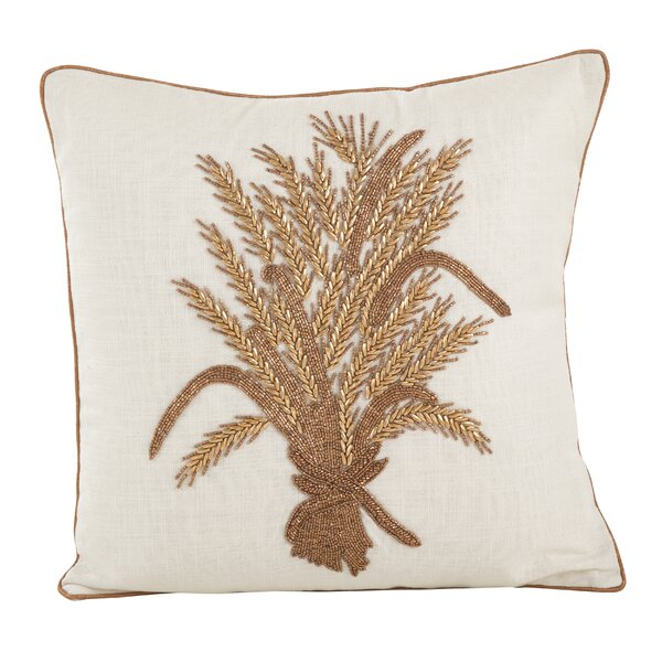 Flori Beaded Thanksgiving Harvest Cotton Throw Pillow by August Grove