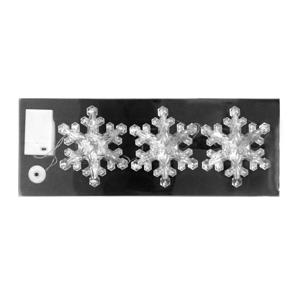 Christmas Acrylic LED Snowflake String Light by The Holiday Aisle