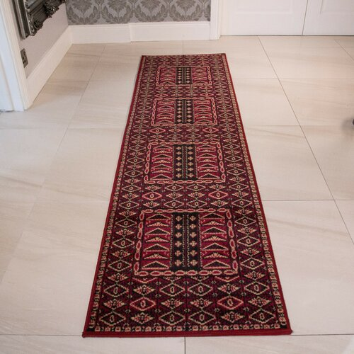 Durso Red Rug Marlow Home Co. Rug Size: Runner 60 x 225cm