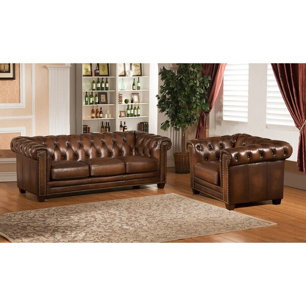 Dusty 2 Piece Leather Living Room Set by Canora Grey