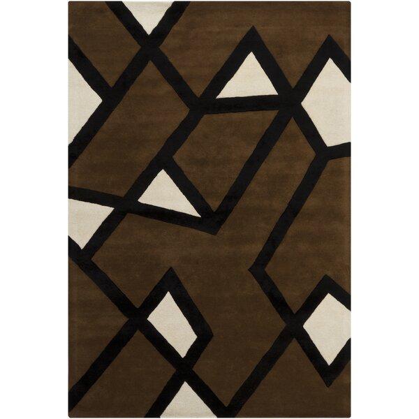 Terri Brown/Tan Geometric Area Rug by Corrigan Studio
