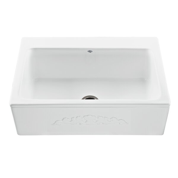 Reliance McCoy Embossed 33 L x 22.25 W Farmhouse/Apron Kitchen Sink by Reliance