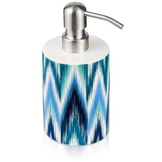 Resler Ikat Ceramic Stainless Steel Soap Dispenser by World Menagerie