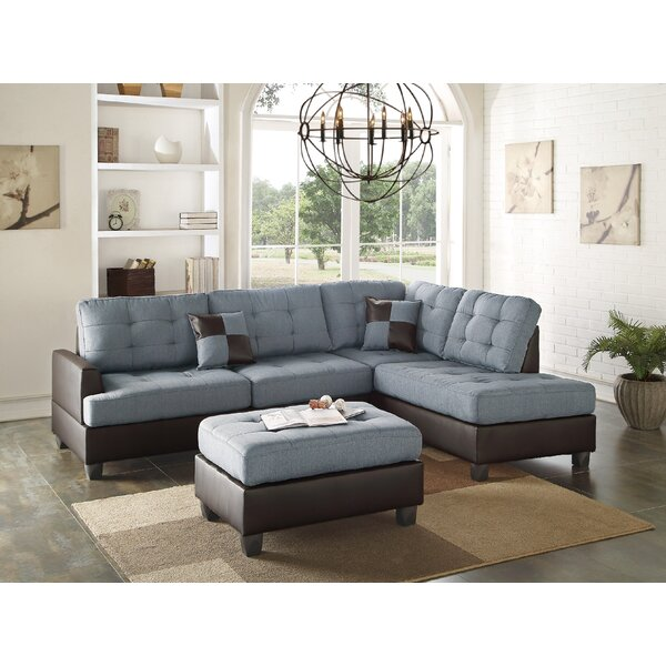 Sectional Right Hand Facing Sectional With Ottoman By Infini Furnishings