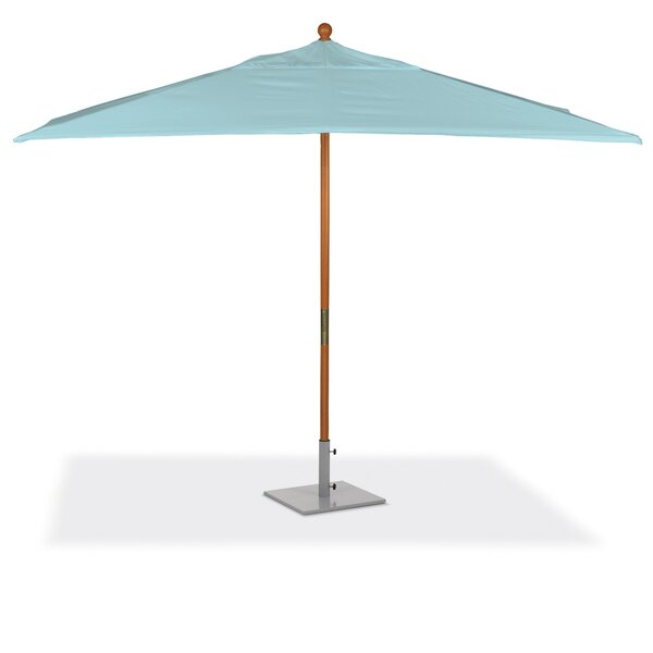 Harpersfield 6' x 10' Rectangular Market Sunbrella Umbrella by Beachcrest Home Beachcrest Home