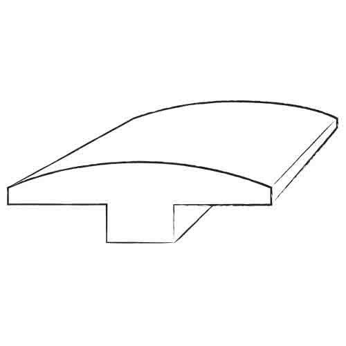 0.25 x 2 x 78 White Oak T-Molding in Nickel by Bruce Flooring