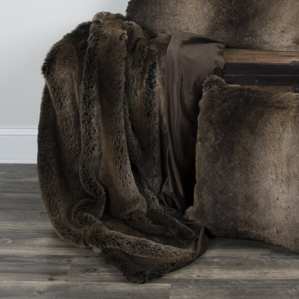 Carrington Faux Fur Throw by Eider & Ivory
