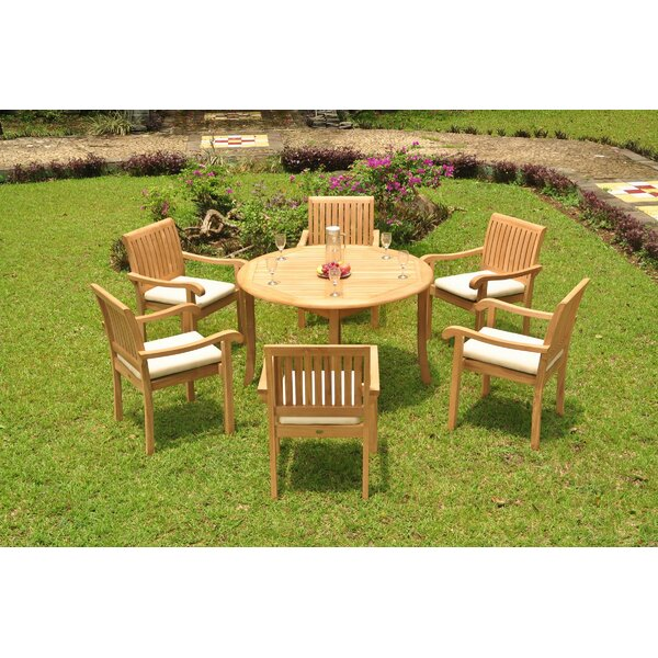 Onondaga Luxurious 7 Piece Teak Dining Set by Rosecliff Heights