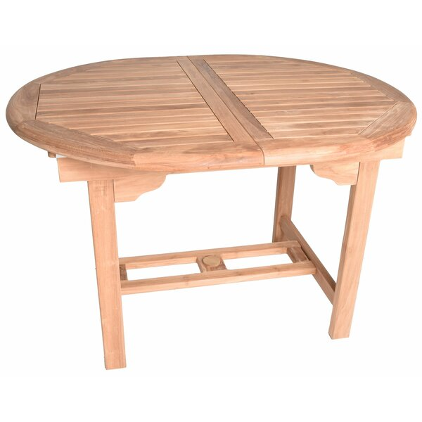 Kenzo Oval Extendable Teak Dining Table by August Grove