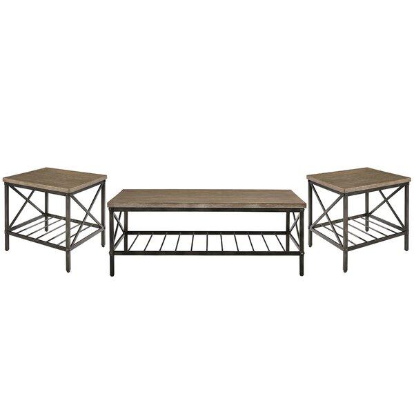Metrodora 3 Piece Coffee Table Set by Williston Forge