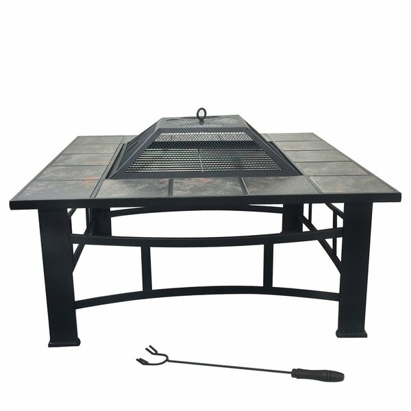 Brazier Steel Wood Burning Fire Pit Table by Zeny