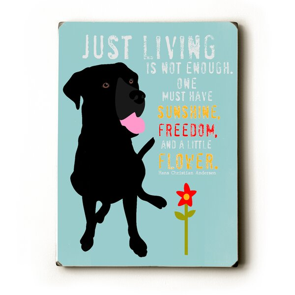 Just Living by Ginger Oliphant Graphic Art Plaque by Artehouse LLC