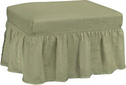 Cotton Duck Ottoman Slipcover by Sure Fit