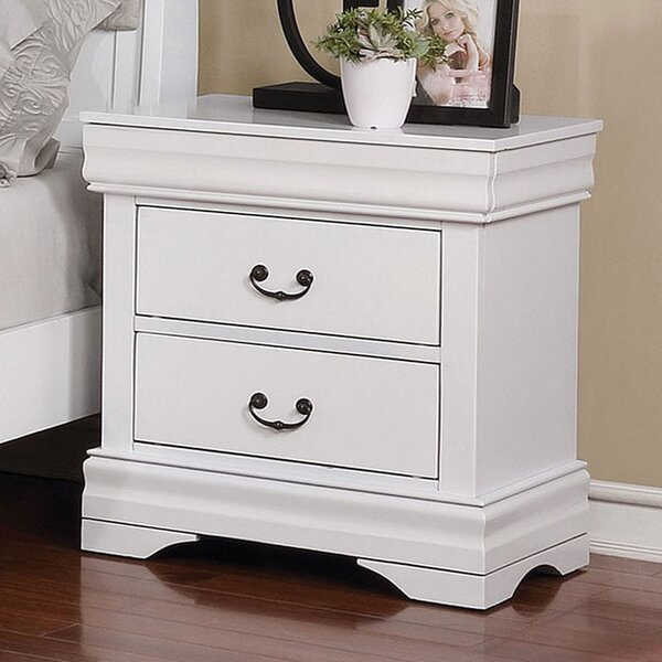 Kristin 2 Drawer Nightstand by Alcott Hill